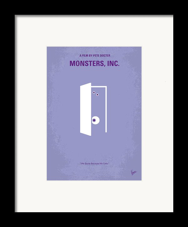 No161 My Monster Inc Minimal Movie Poster Framed Print By Chungkong Art