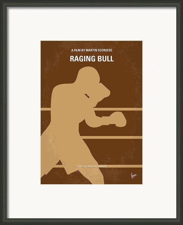 No174 My Raging Bull Minimal Movie Poster Framed Print By Chungkong Art