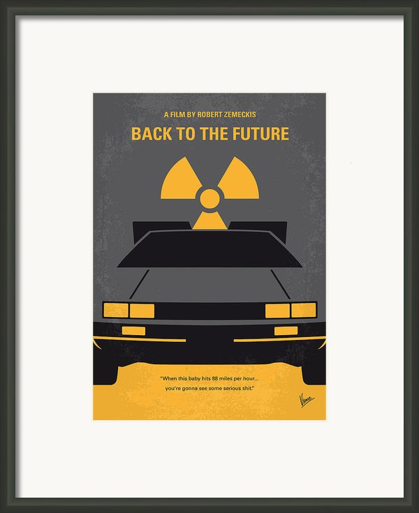 No183 My Back To The Future Minimal Movie Poster Framed Print By Chungkong Art
