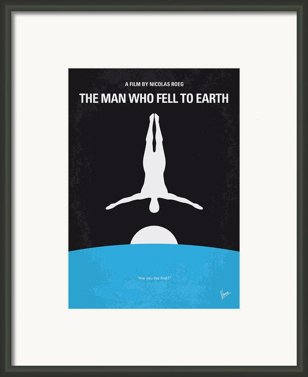 No208 My The Man Who Fell To Earth Minimal Movie Poster Framed Print By Chungkong Art