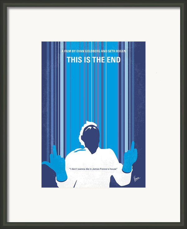 No220 My This Is The End Minimal Movie Poster Framed Print By Chungkong Art