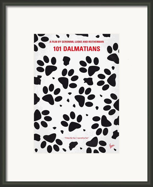 No229 My 101 Dalmatians Minimal Movie Poster Framed Print By Chungkong Art