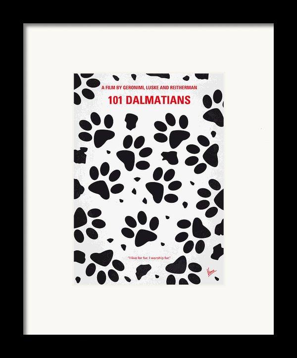 No229 My 101 Dalmatians Minimal Movie Poster Framed Print By Chungkong Art