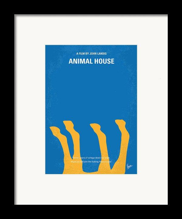 No230 My Animal House Minimal Movie Poster Framed Print By Chungkong Art