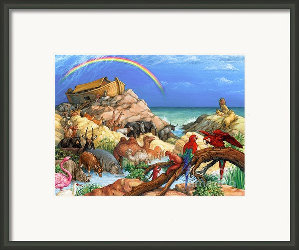 Noah And The Ark Framed Print By Randy Wollenmann