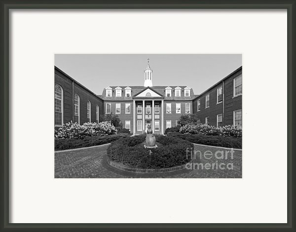 North Park College Nyvall Hall Framed Print By University Icons