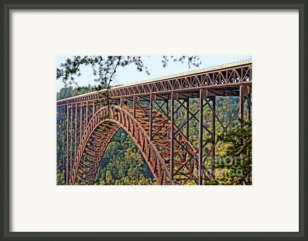 Northeast Close-up Of New River Gorge Bridge Framed Print By Timbo Connard