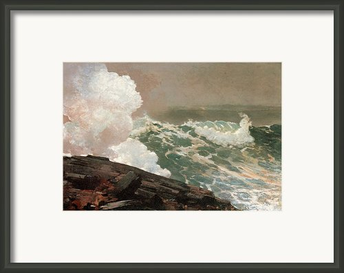 Northeaster Framed Print By Winslow Homer