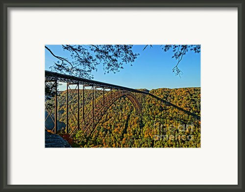 Northwest View Of Gorge Bridge Framed Print By Timbo Connard