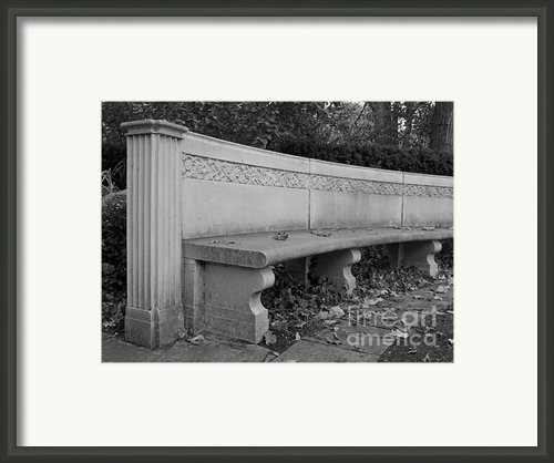 Northwestern University Weinberg Garden Bench Framed Print By University Icons
