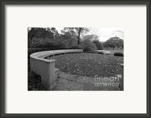 Northwestern University Weinberg Garden Framed Print By University Icons