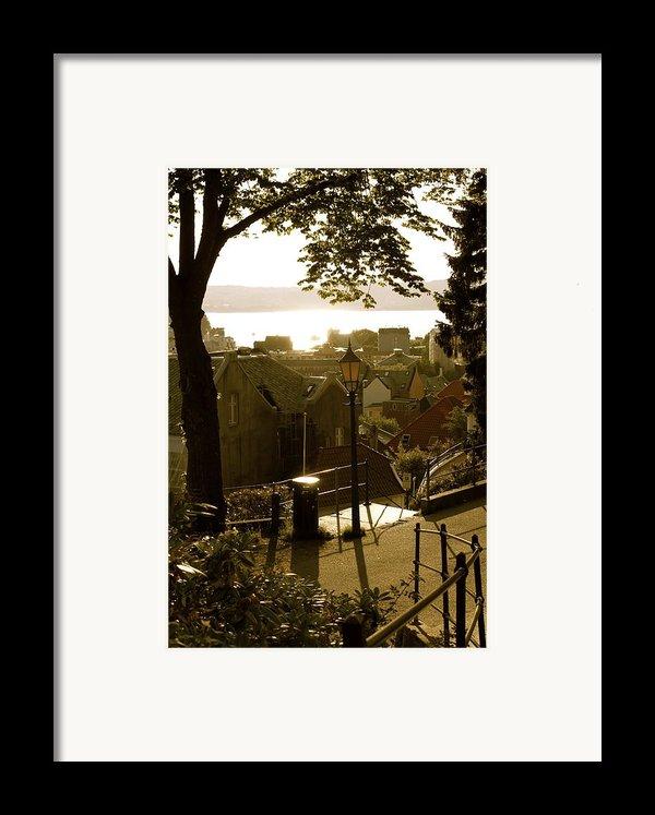 Norway - Bergen - Summertime Framed Print By Hilde Mariann Hansen