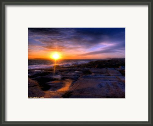 Norwegian Sunset Framed Print By Bruce Nutting