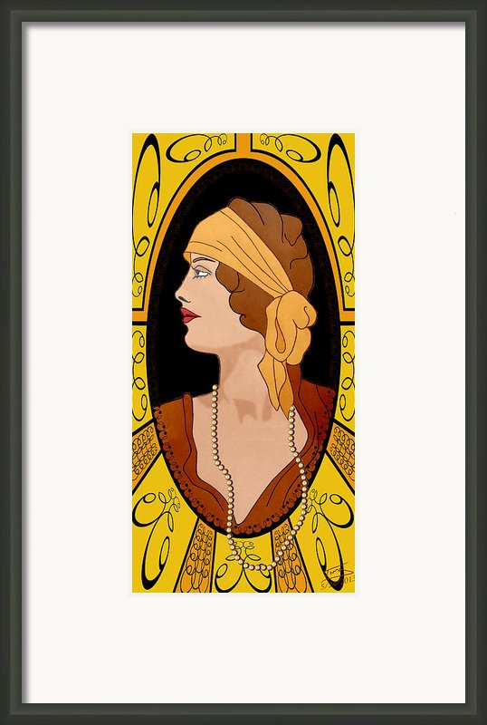 Nouveau Girl Framed Print By Troy Brown