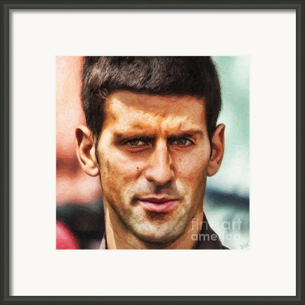 Novak Djokovic Framed Print By Nishanth Gopinathan