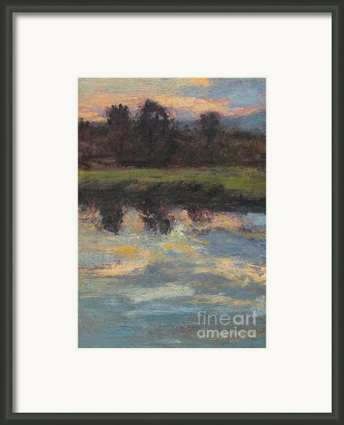 November Reflection - Hudson Valley Framed Print By Gregory Arnett