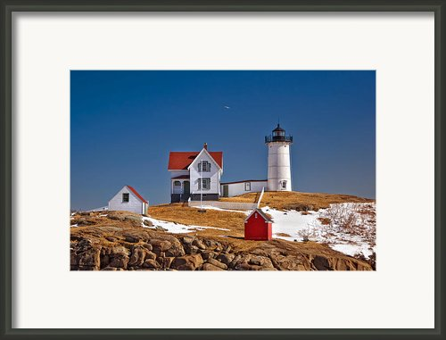 Nubble Lighthouse 3 Framed Print By Joann Vitali