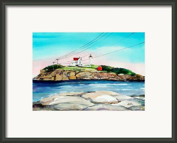 Nubble Lighthouse Maine Framed Print By Scott Nelson