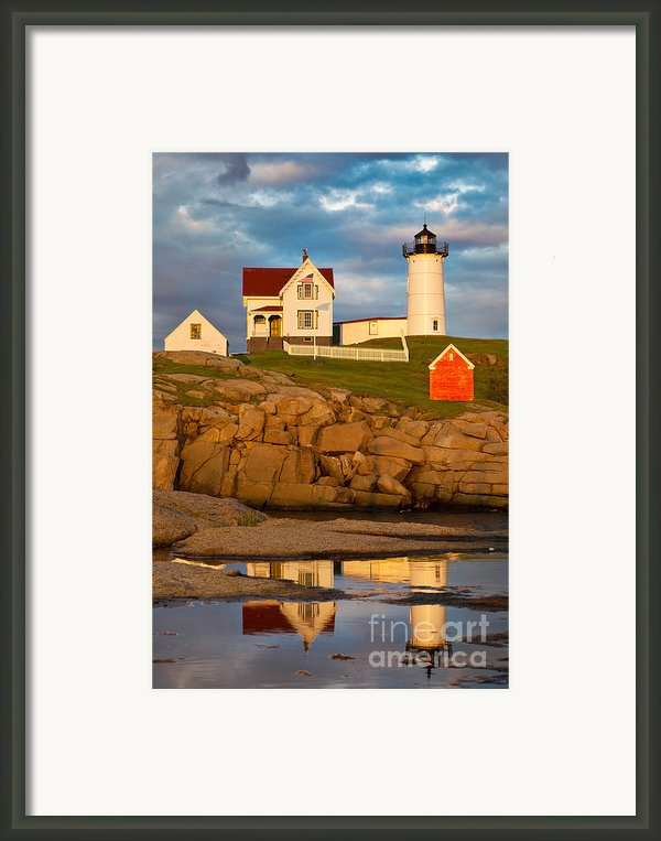 Nubble Lighthouse No 1 Framed Print By Jerry Fornarotto