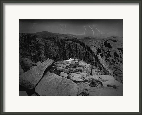 Nude On Mountain Pass Framed Print By James Mascarenaz