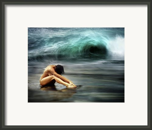 Nude Woman On Beach Framed Print By M Swiet Productions