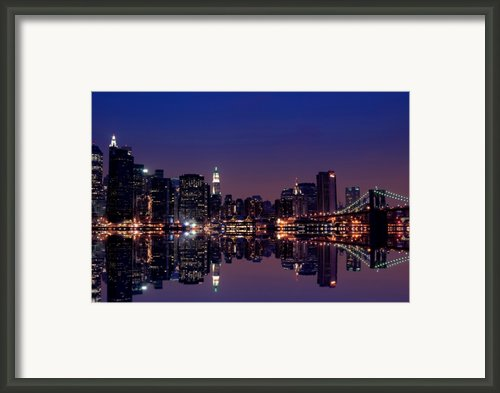 Nyc Skyline New York City Usa Framed Print By Sabine Jacobs