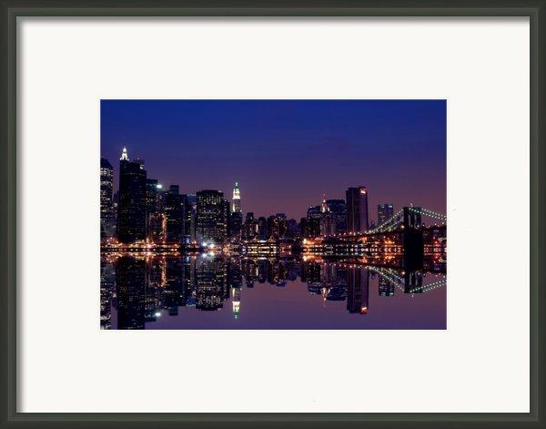 Nyc Skyline New York City Usa Framed Print By Sabine Jacobs