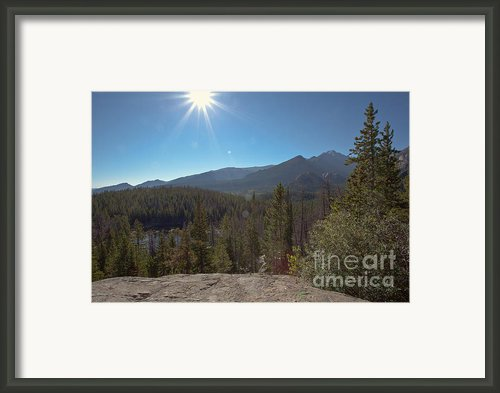 Nymph Lake And Longs Peak Framed Print By Kay Pickens