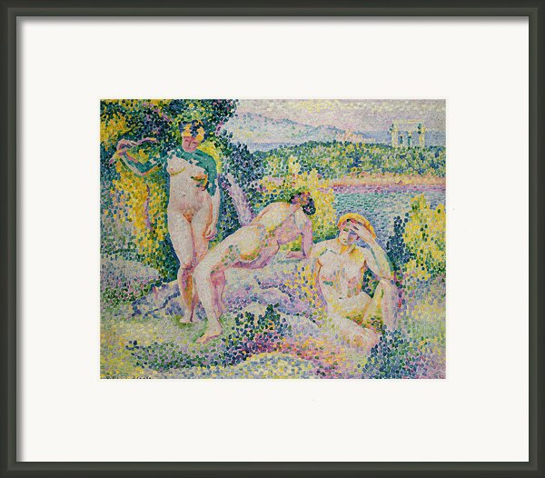 Nymphs Framed Print By Henri Edmond Cross