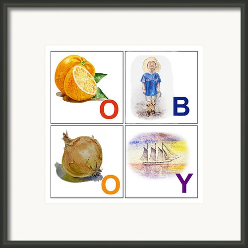 O Boy Art Alphabet For Kids Room Framed Print By Irina Sztukowski