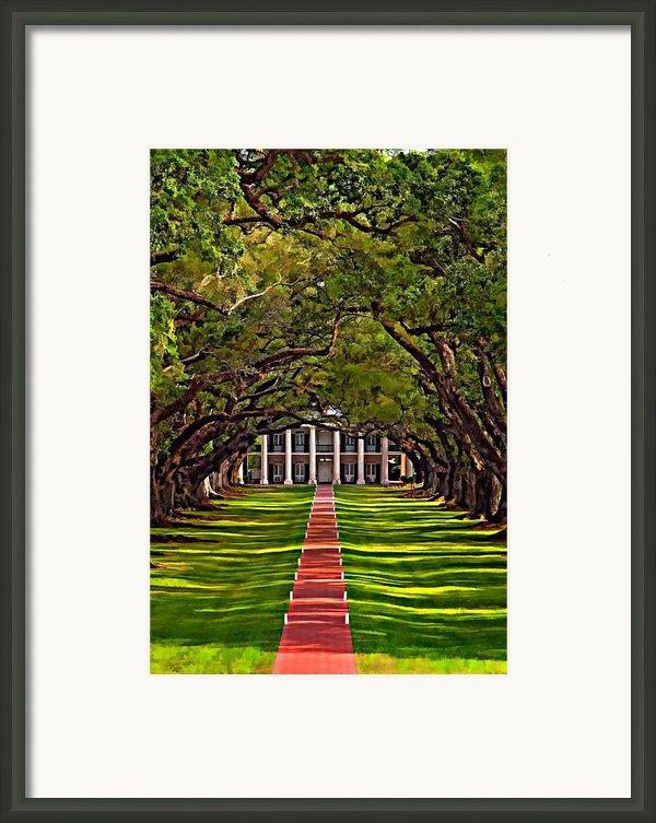 Oak Alley Ii Framed Print By Steve Harrington