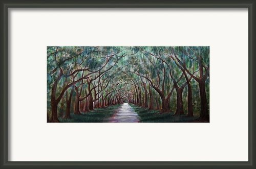 Oak Avenue Framed Print By Anastasiya Malakhova