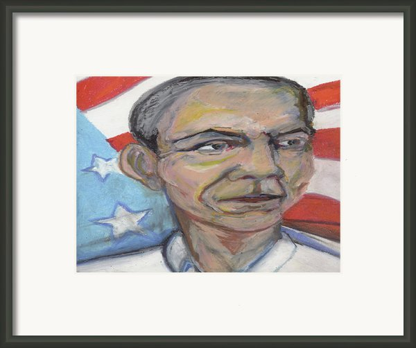 Obama 2012 Framed Print By Derrick Hayes