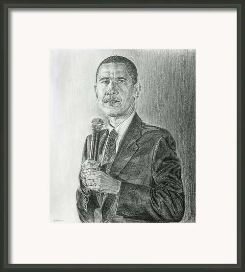 Obama 3 Framed Print By Michael Morgan