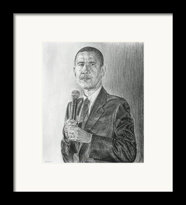 Obama 3 Framed Print By Michael Morgan