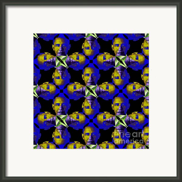 Obama Abstract 20130202m118 Framed Print By Wingsdomain Art And Photography