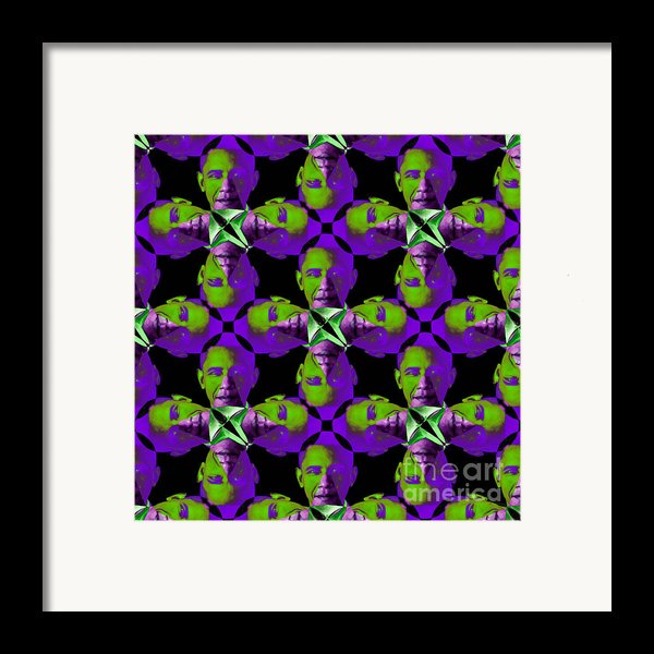 Obama Abstract 20130202m88 Framed Print By Wingsdomain Art And Photography