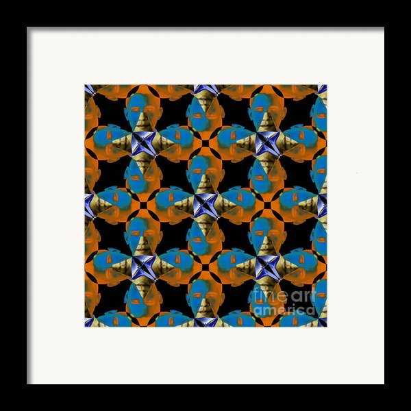 Obama Abstract 20130202p28 Framed Print By Wingsdomain Art And Photography
