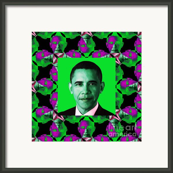 Obama Abstract Window 20130202p128 Framed Print By Wingsdomain Art And Photography