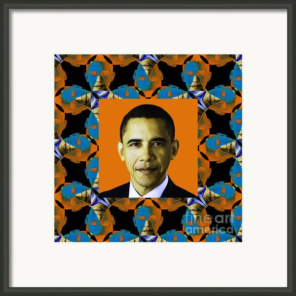 Obama Abstract Window 20130202p28 Framed Print By Wingsdomain Art And Photography