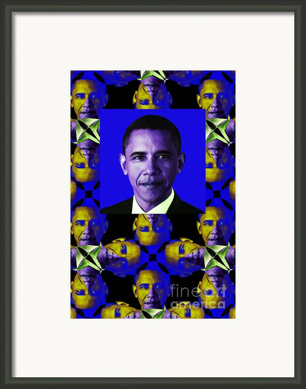 Obama Abstract Window 20130202verticalm118 Framed Print By Wingsdomain Art And Photography