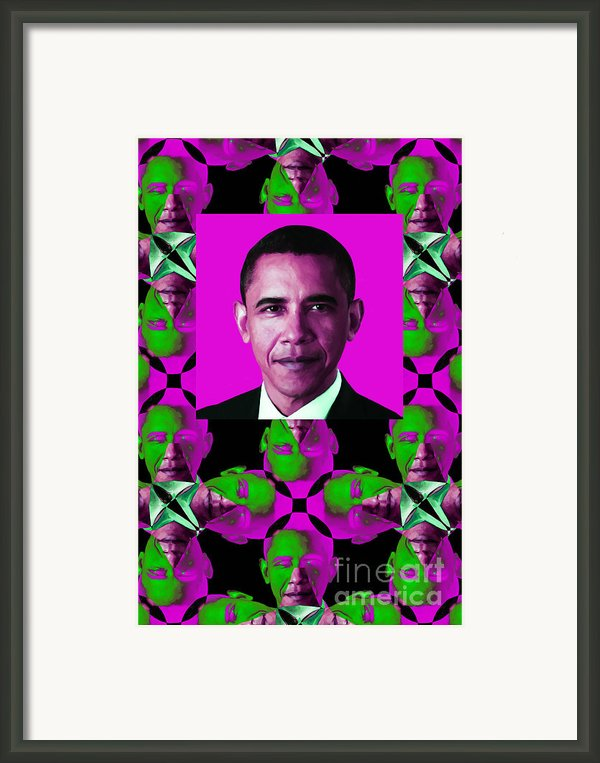 Obama Abstract Window 20130202verticalm60 Framed Print By Wingsdomain Art And Photography