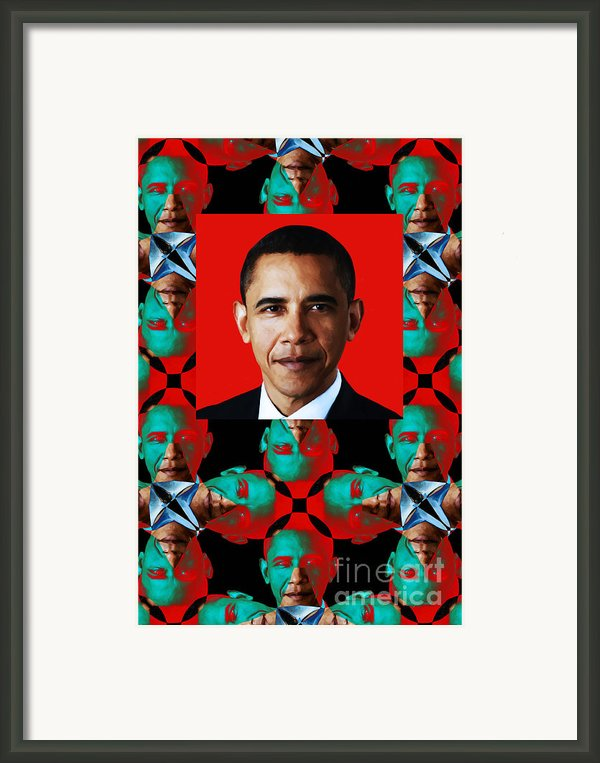 Obama Abstract Window 20130202verticalp0 Framed Print By Wingsdomain Art And Photography