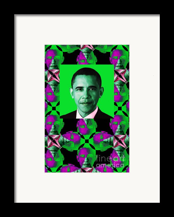 Obama Abstract Window 20130202verticalp128 Framed Print By Wingsdomain Art And Photography