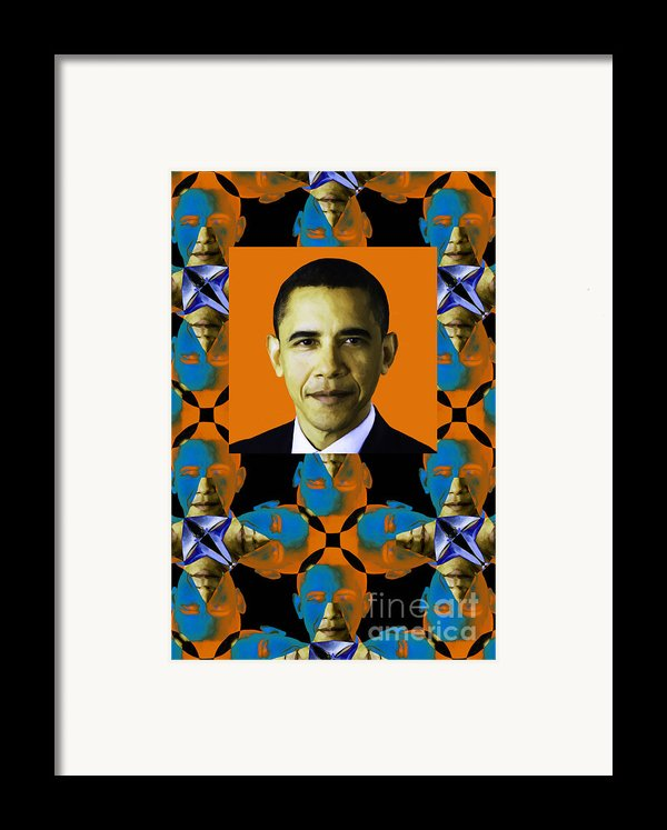 Obama Abstract Window 20130202verticalp28 Framed Print By Wingsdomain Art And Photography