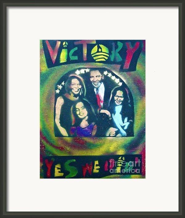 Obama Family Victory Framed Print By Tony B Conscious