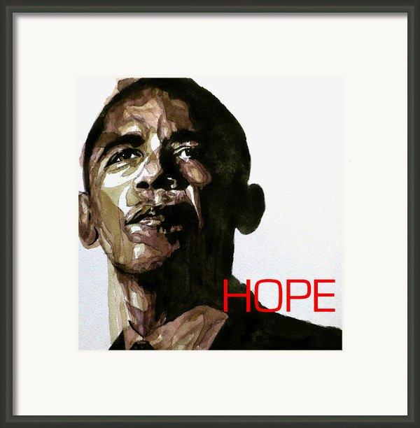 Obama Hope Framed Print By Paul Lovering