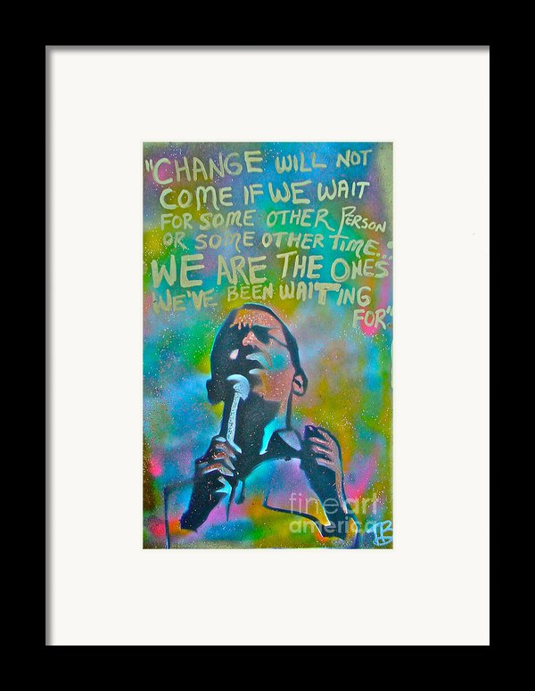 Obama In Living Color Framed Print By Tony B Conscious