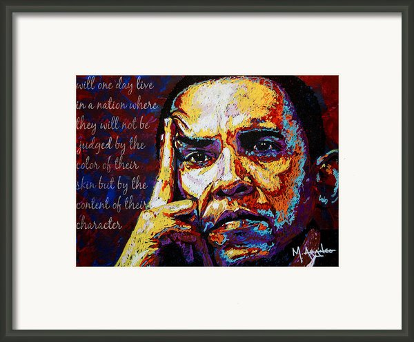 Obama Framed Print By Maria Arango