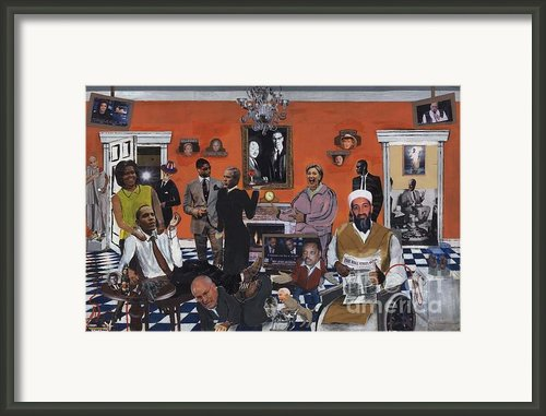 Obama Nation Framed Print By Reginald Williams